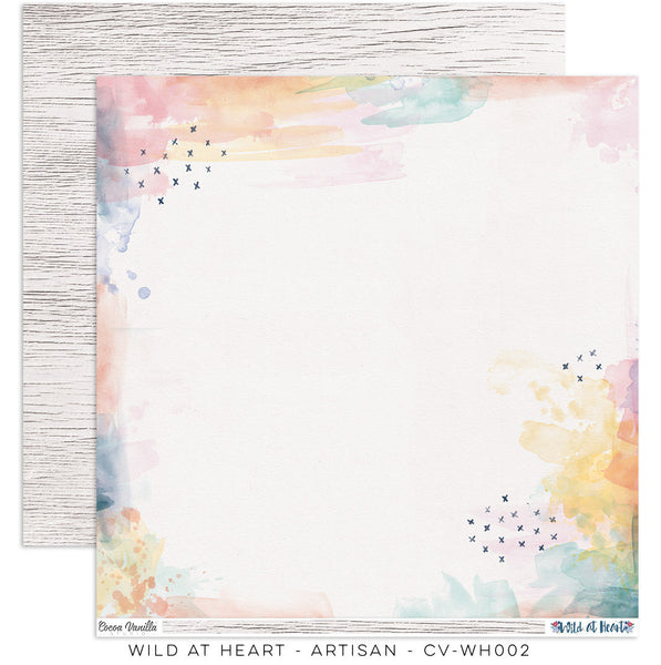 "Cocoa Vanilla Studio -Wild At Heart – ""Artisan"" Paper - Shop and Crop Scrapbooking"