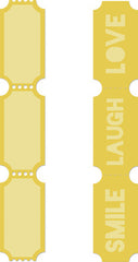 Decorative Die - Tickets - DD366