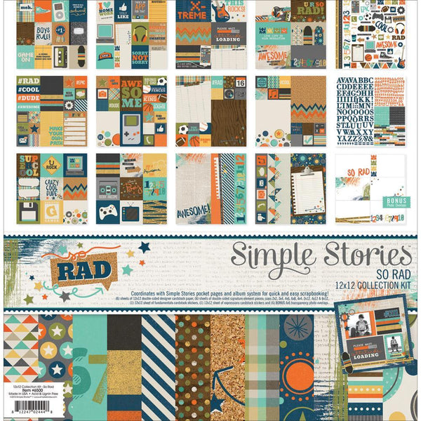 Simple Stories - So Rad - Collection Pack - Shop and Crop Scrapbooking