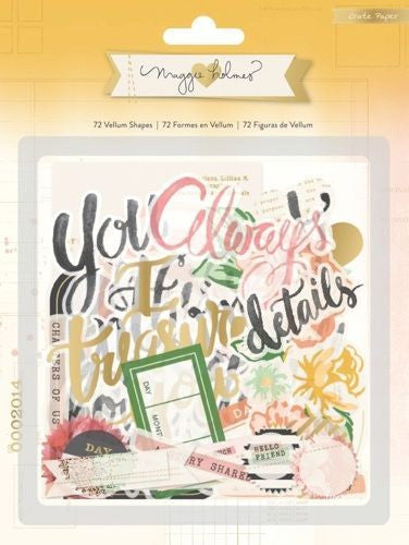 OPEN BOOK Maggie Holmes Vellum Shapes - Shop and Crop Scrapbooking