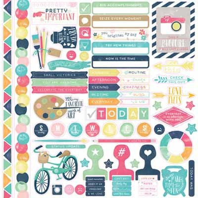 Creative Agenda Element Sticker - Shop and Crop Scrapbooking