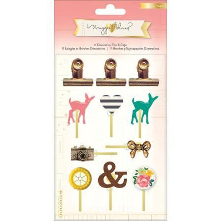 OPEN BOOK Maggie Holmes Decorative Pins & Clips - Shop and Crop Scrapbooking