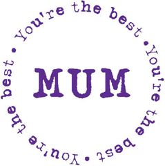 Best Mum Rubber Stamp