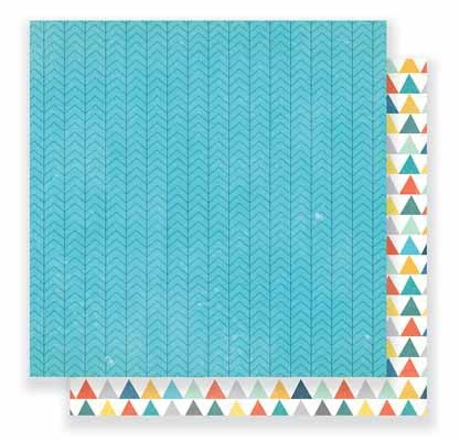"Crate Paper Cool Kid - Brothers 12""X12"" Pattern Paper - Shop and Crop Scrapbooking"