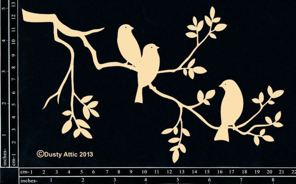 Dusty Attic- Birds On A Branch #3 - Shop and Crop Scrapbooking