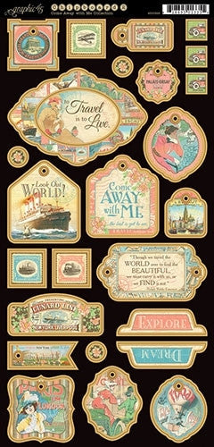 Come Away With Me Decorative Chipboard - Graphic 45 - Shop and Crop Scrapbooking