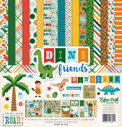 Dino Friends Collection Kit - Shop and Crop Scrapbooking