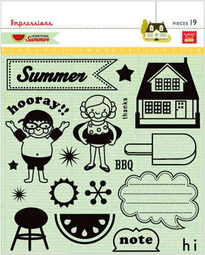 Clear Stamps Hometown Summer - Shop and Crop Scrapbooking