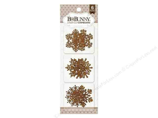 Bo Bunny Laser Cut Chipboard Snow Flake - Shop and Crop Scrapbooking