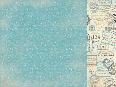Wanderlust - Freedom 12 x 12 Pattern Paper - Shop and Crop Scrapbooking