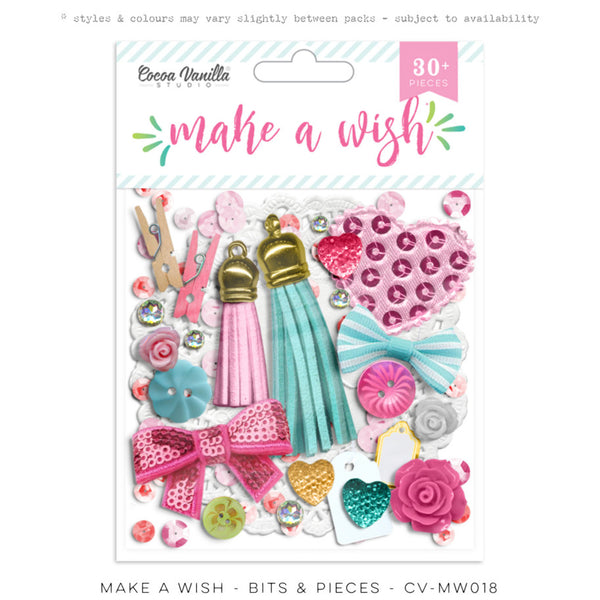 Cocoa Vanilla Studio Make A Wish BITS & PIECES - Shop and Crop Scrapbooking