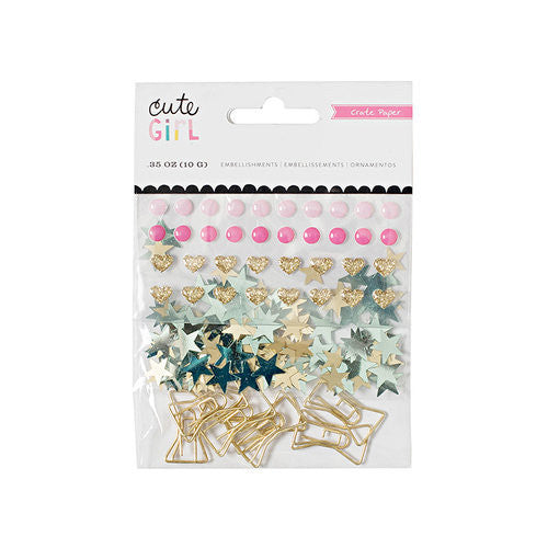 Cute Girl - Bow Paper Clips - Shop and Crop Scrapbooking