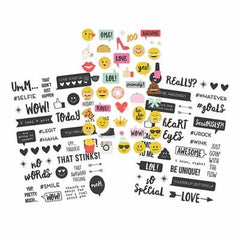 Simple Stories - Emoji Love Collection - Clear Stickers