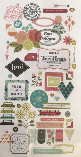 J'Adore Die Cut Cardstock & Transparencies