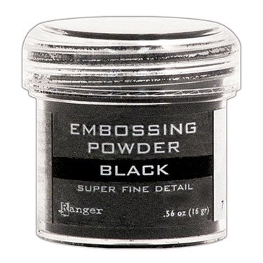 Ranger Embossing Powder- Super Fine Black