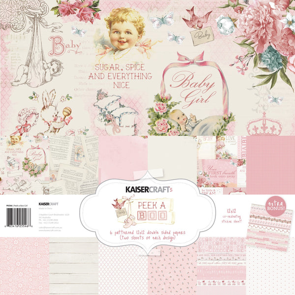 Kaisercraft Peek a Boo Baby Girl Collection Kit