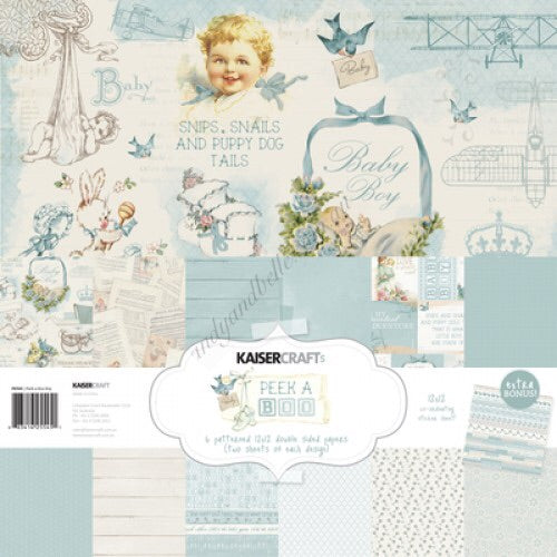 Kaisercraft Peek a Boo Baby Boy Collection Kit
