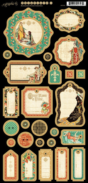 Enchanted Forest Journaling Chipboard