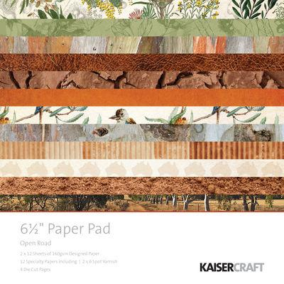 "Kaisercraft Open Road 6.5"" Paper Pad"