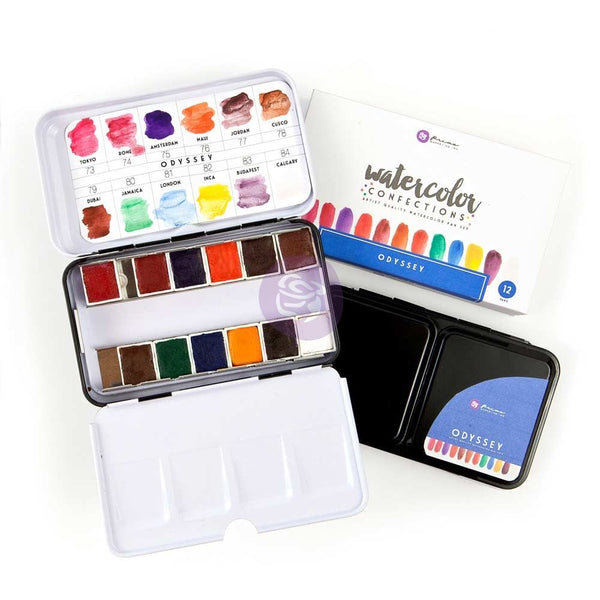 Prima Marketing Watercolor Confections  Odyssey Watercolor Pans 12/Pk