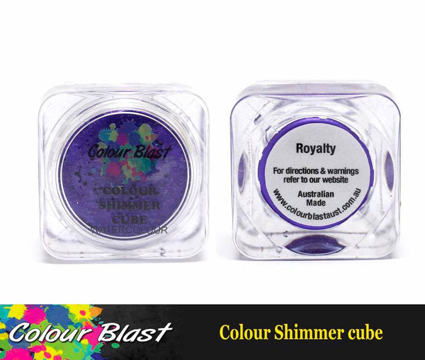 Colour Shimmer Cube - Watercolour - Royalty