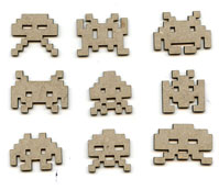 Space Invaders MINI Chipboard