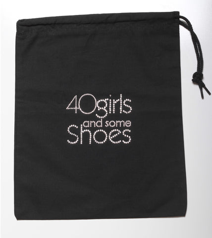40 GIRLS AND SOME SHOES SHOE BAG SILVER