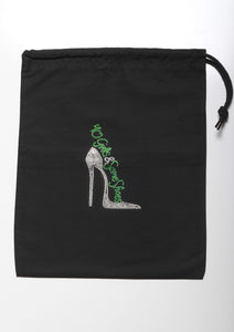 40 GIRLS AND SOME SHOES SHOE BAG (GREEN HEEL)