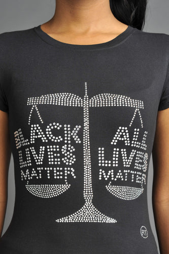 Black Lives Matter-All Lives Matter (Silver)