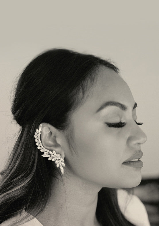 "Jessica Mauboy CD booklet for her CD ""Beautiful"" wearing Sarina Suriano Aries Charm crystal earcuff and stud"