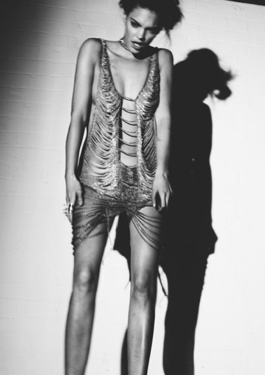 Soma Magazine Editorial styled by Leticia Dare wearing Sarina Suriano All Jazzed Up Chain dress