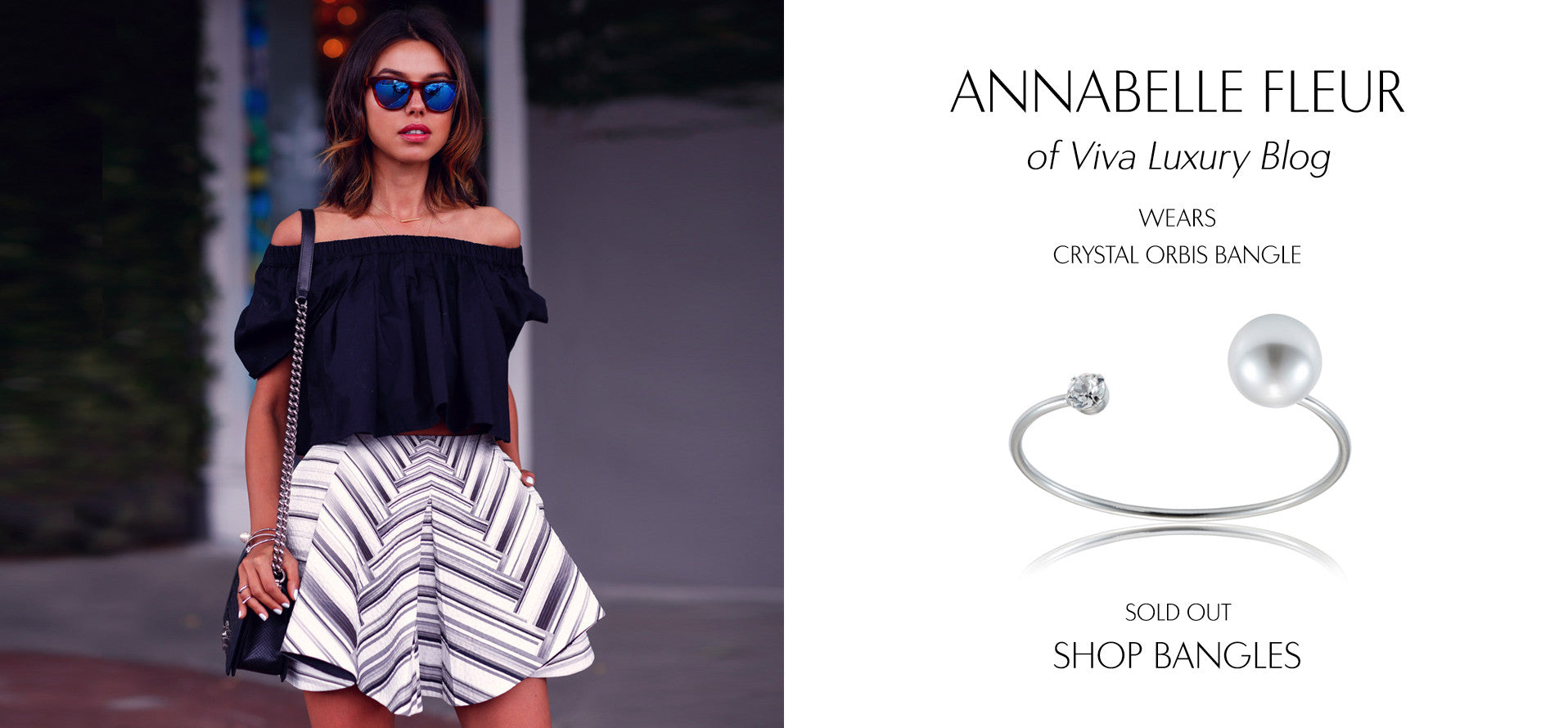 VivaLuxury - Fashion Blog by Annabelle Fleur wears Sarina Suriano crystal orbis pearl bangle