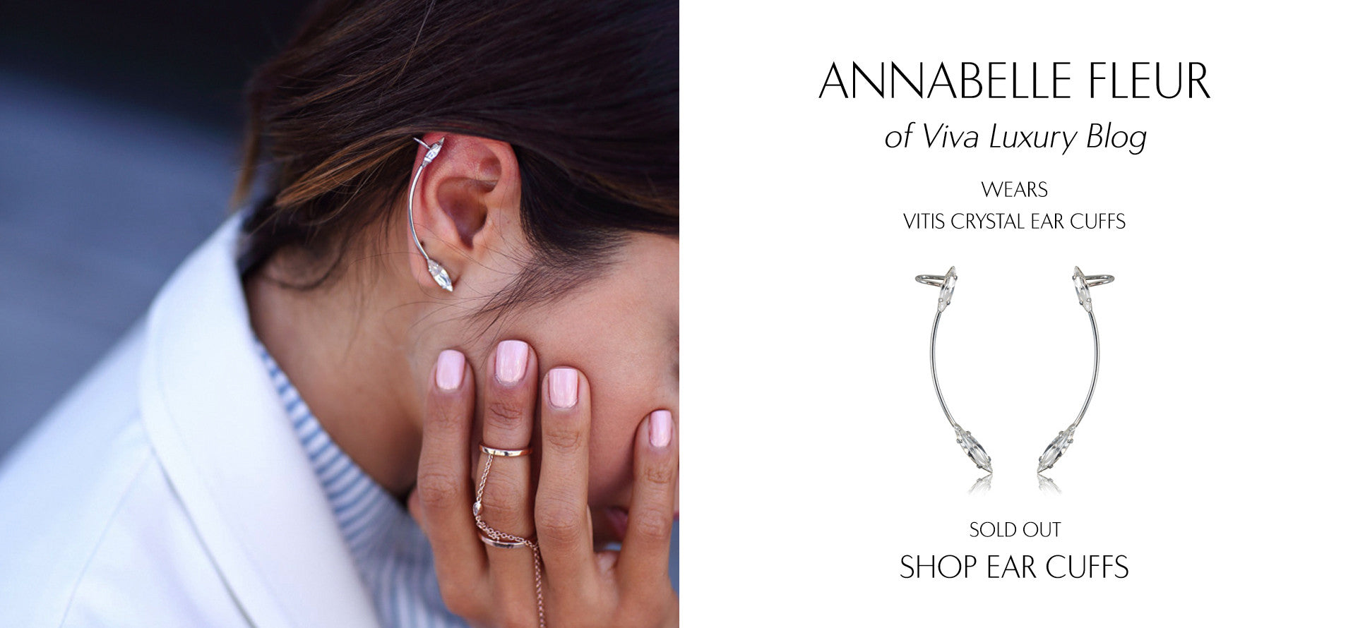 VivaLuxury - Fashion Blog by Annabelle Fleur wears Sarina Suriano crystal vitis earcuffs