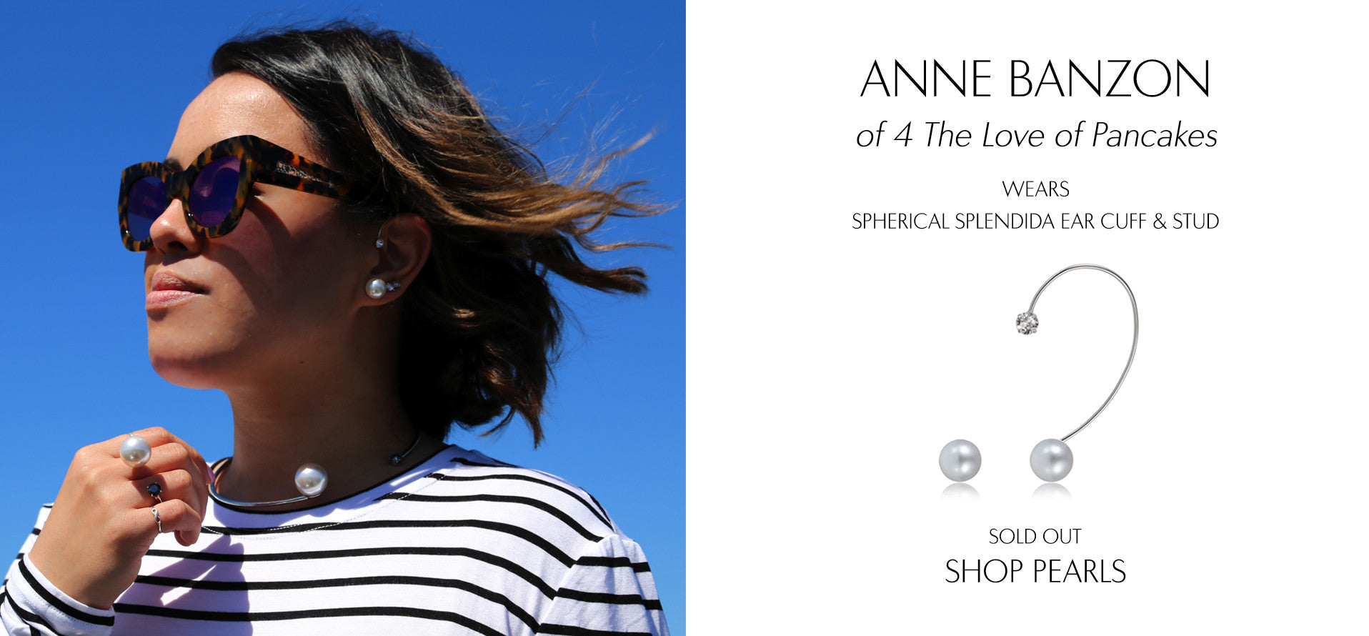 4TheLoveOfPancakes - Fashion Blog by Anne Banzon wears Sarina Suriano Spherical Splendida pearl earcuff and stud