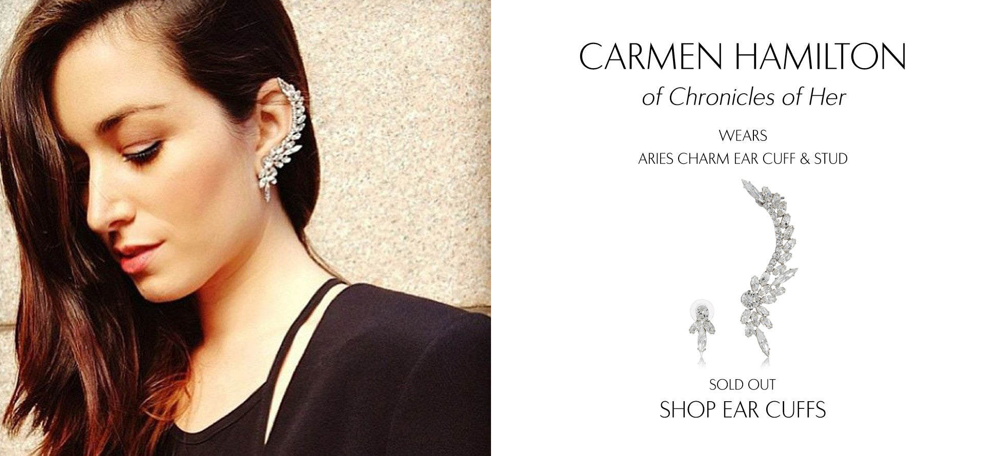Chronicles of her - Fashion Blog by Carmen Hamilton wears Sarina Suriano Aries Charm earcuff and stud