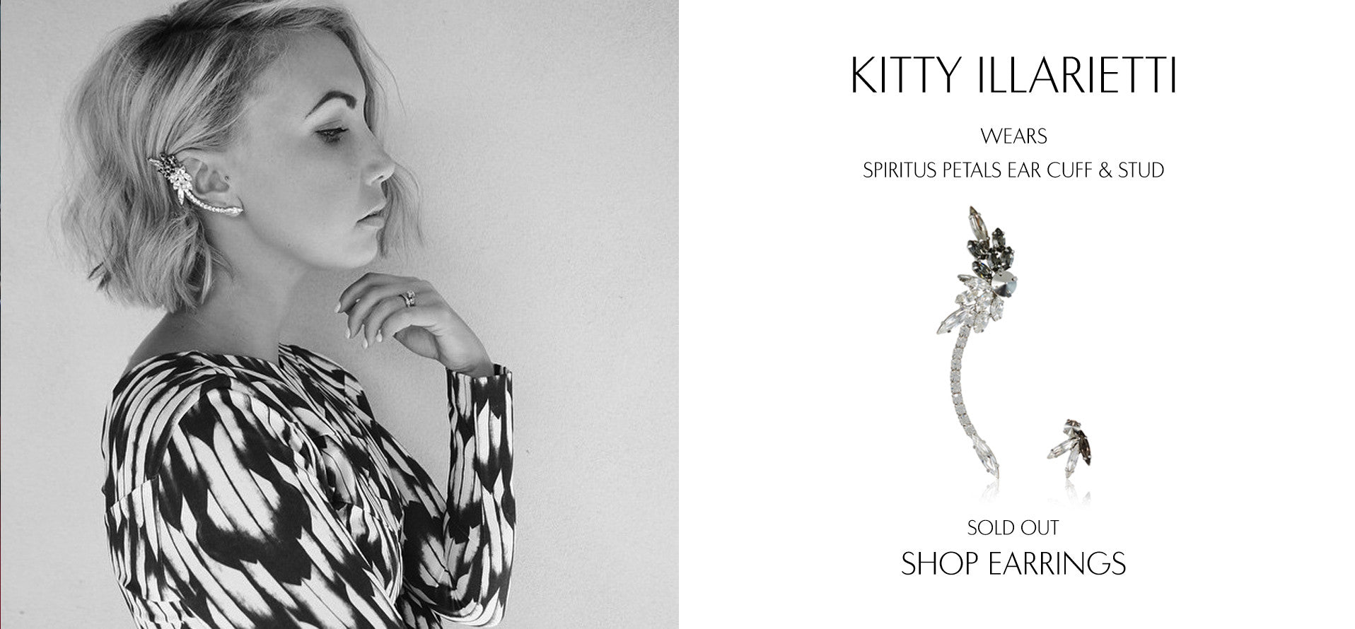 Lock And Key Clothing - Fashion Blog by Kitty Illarietti wears Sarina Suriano Spiritus Petals Earcuff & stud
