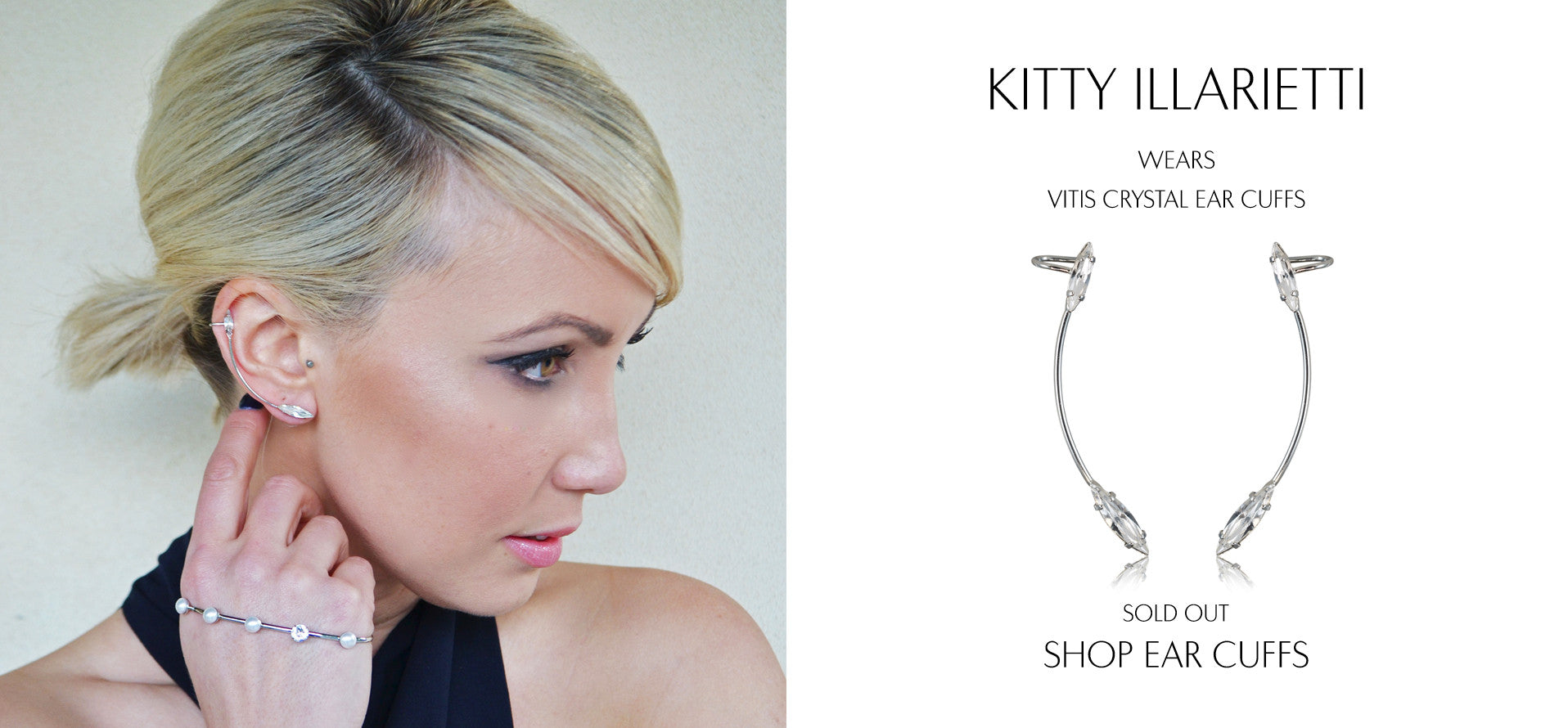 Lock And Key Clothing - Fashion Blog by Kitty Illarietti wears Sarina Suriano Vitis delicate crystal earcuffs