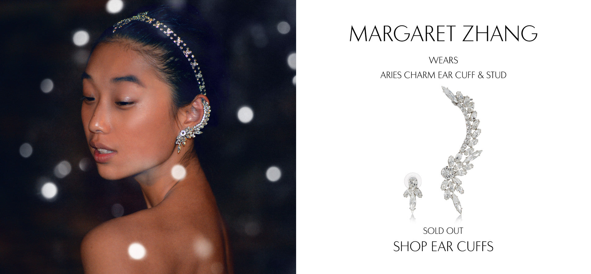 Shine By Three - Fashion Blog by Margaret Zhang wears Sarina Suriano Aries Charm crystal earcuff and stud