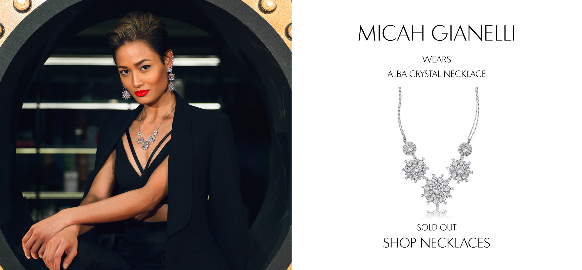 MicahGianneli - Fashion Blog by Micah Gianneli wears Sarina Suriano Alba crystal necklace
