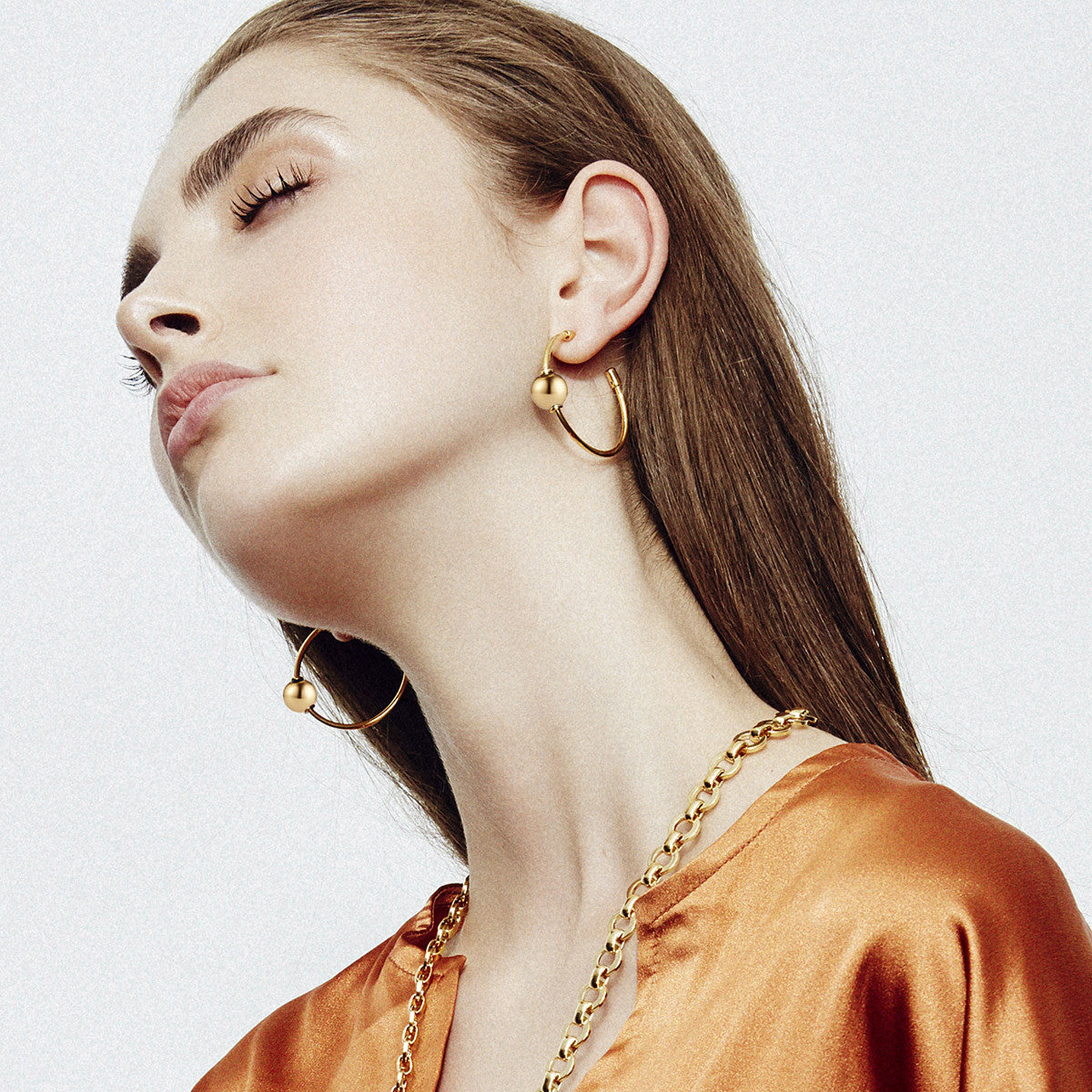 Sarina Suriano Mars Circulus hoop earrings in 18K gold plating from the Sphera collection