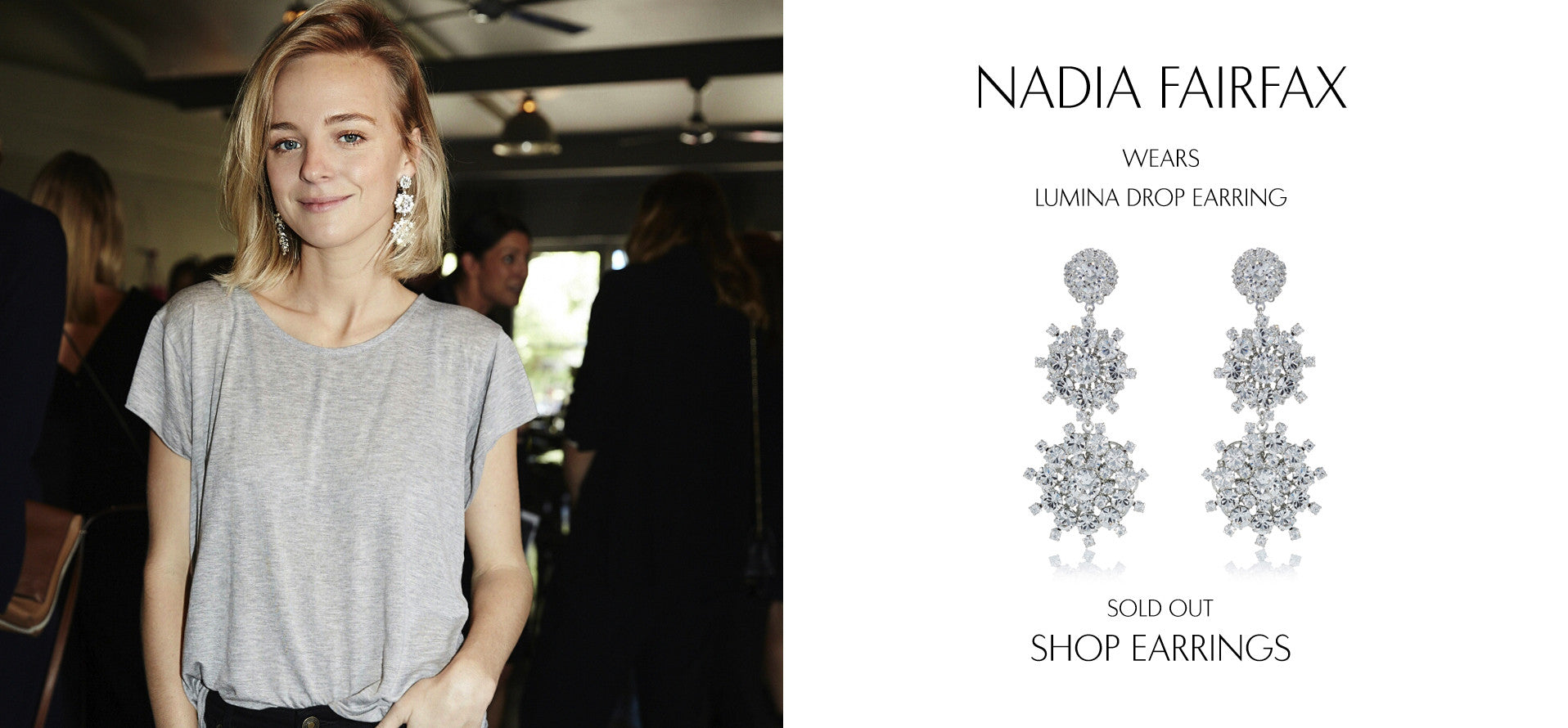 FairfaxJournal - Fashion Blog by Nadia Fairfax wears Sarina Suriano Lumina crystal chandelier earring