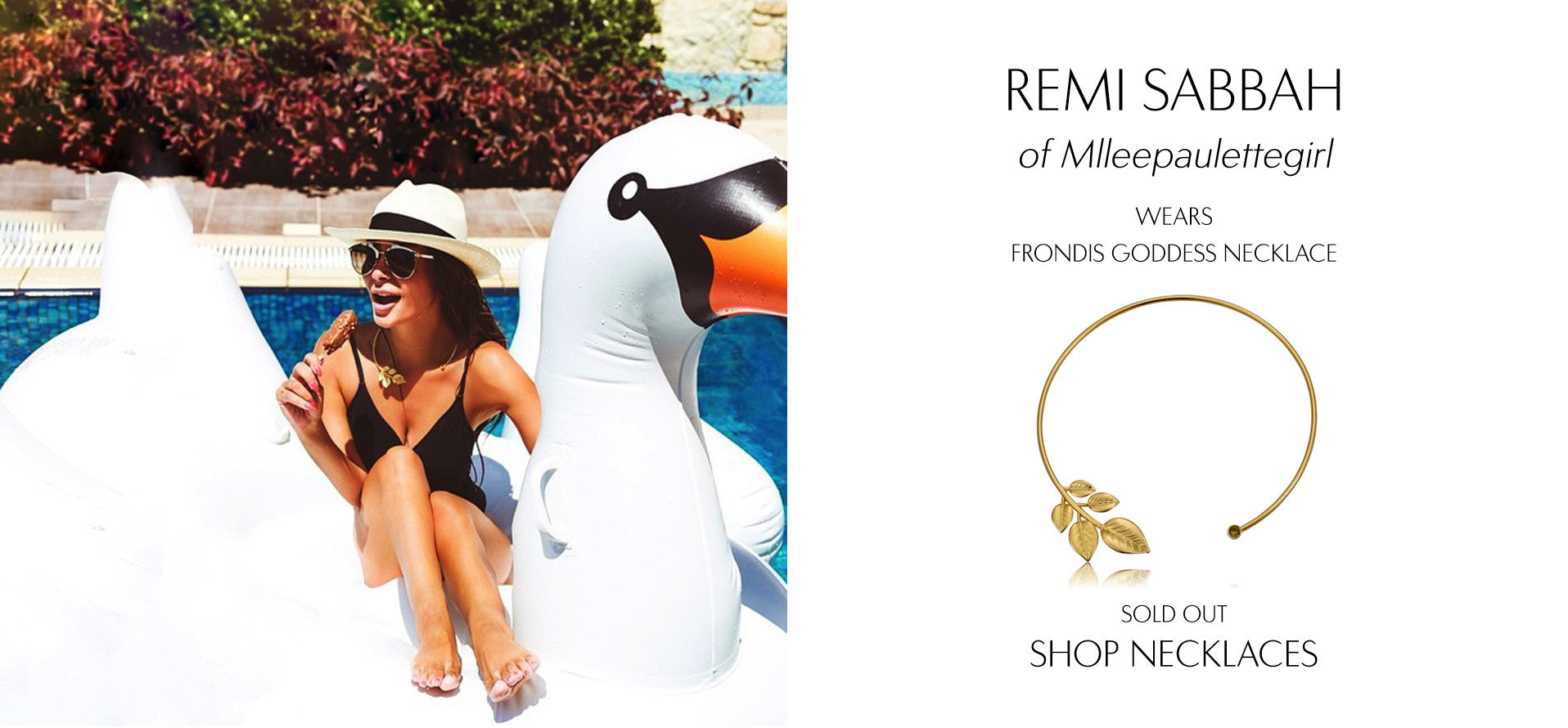 Mlleepaulettegirl - Fashion Blog by Rèmi Sabbah wears Sarina Suriano Frondis Goddess leaf necklace