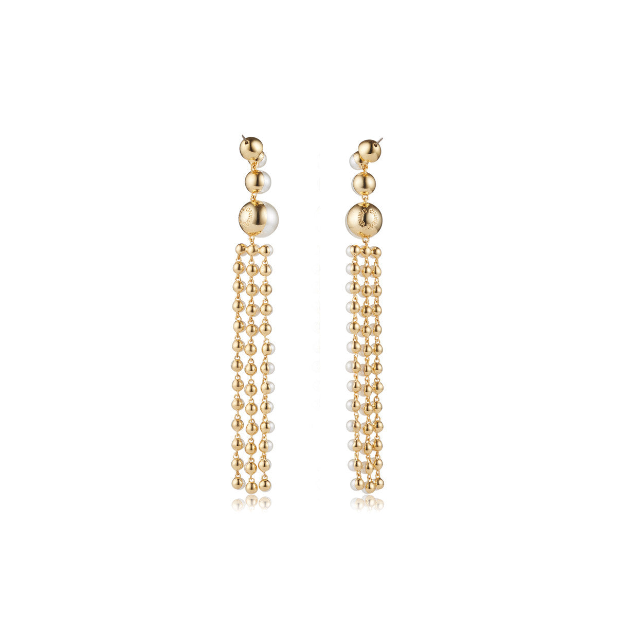 18K gold plated Ad Astra Swarovski® pearl earrings - back