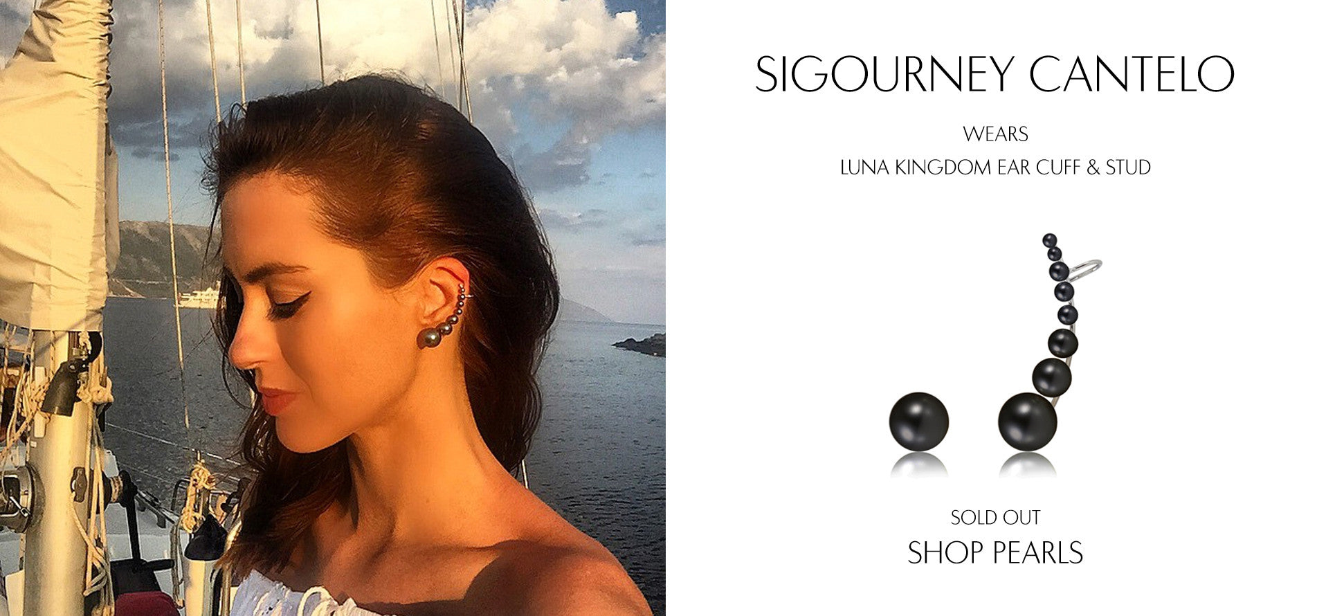 Beauticate - Beauty and Health Blog by Sigourney Cantelo wears Sarina Suriano Luna Kingdom pearl earcuff and stud