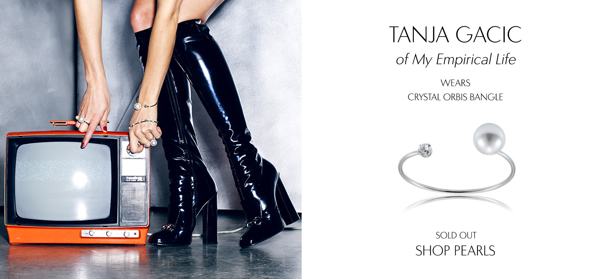 My EmpiricalLife - Fashion Blog by Tanja Gacic wears Sarina Suriano Crystal Orbis pearl bangle