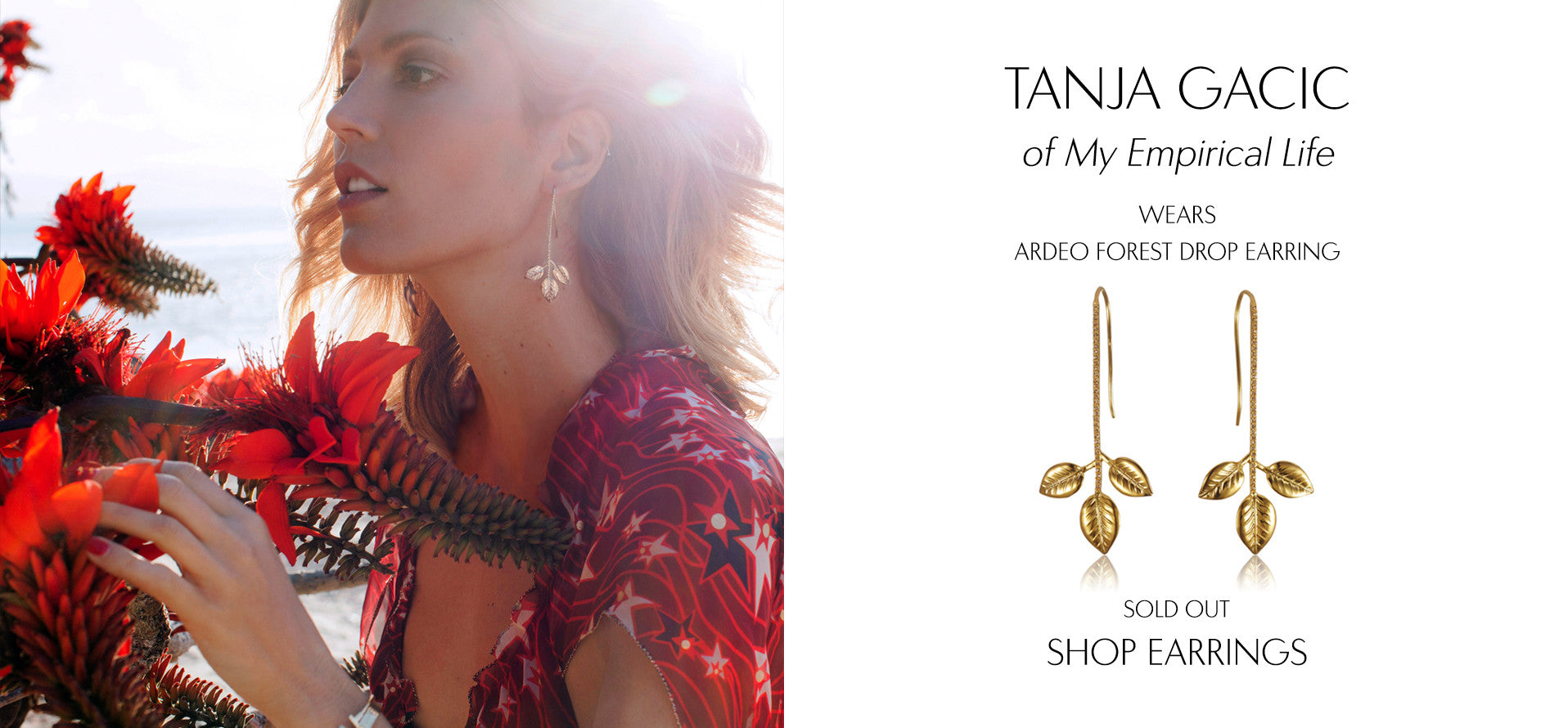My Empirical Life - Fashion Blog by Tanja Gacic wears Sarina Suriano Ardeo Forest gold drop earring