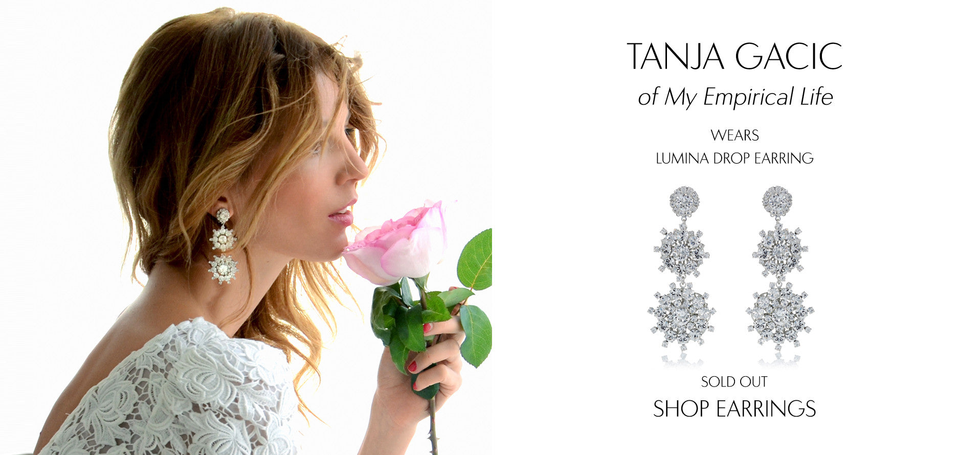 My EmpiricalLife - Fashion Blog by Tanja Gacic wears Sarina Suriano Lumina crystal chandelier earring