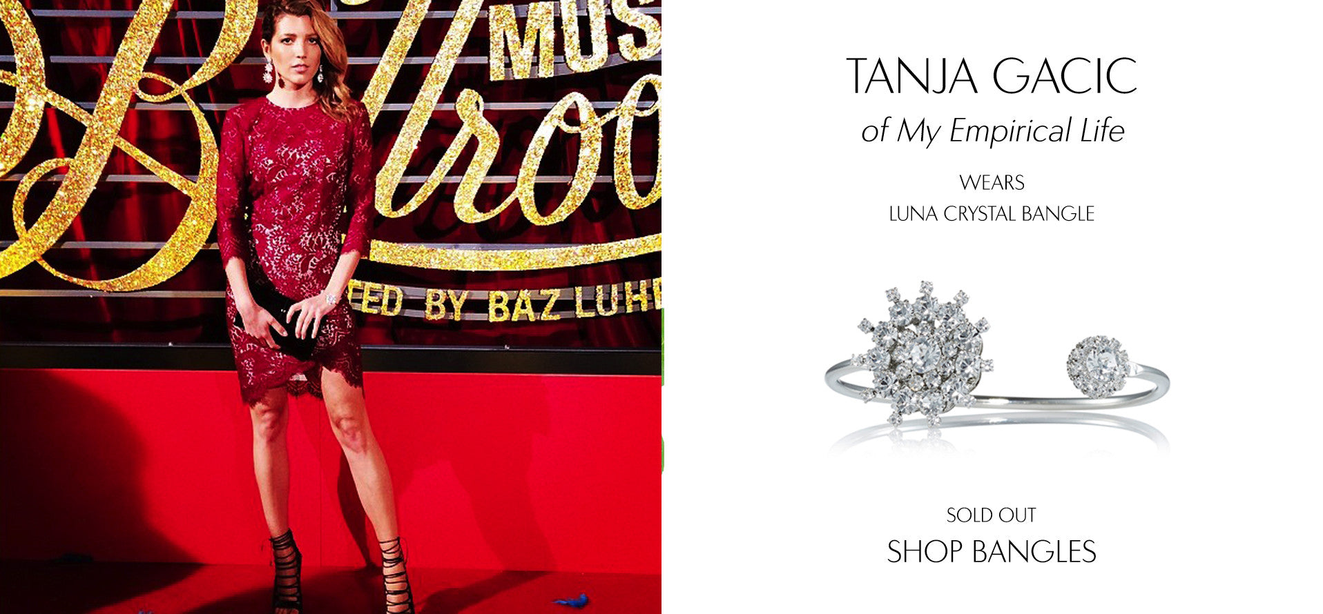 My EmpiricalLife - Fashion Blog by Tanja Gacic wears Sarina Suriano Luna crystal bangle