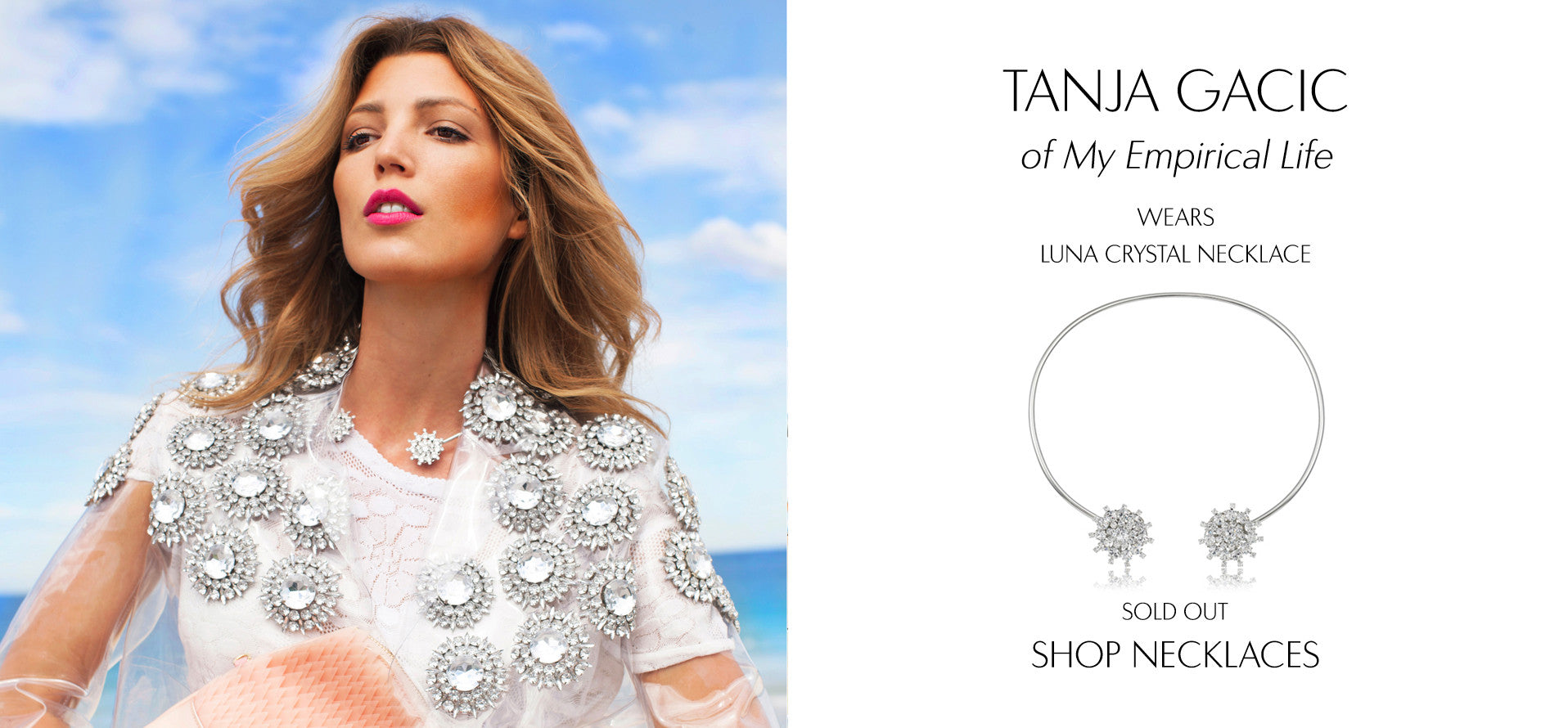 My EmpiricalLife - Fashion Blog by Tanja Gacic wears Sarina Suriano Luna crystal necklace