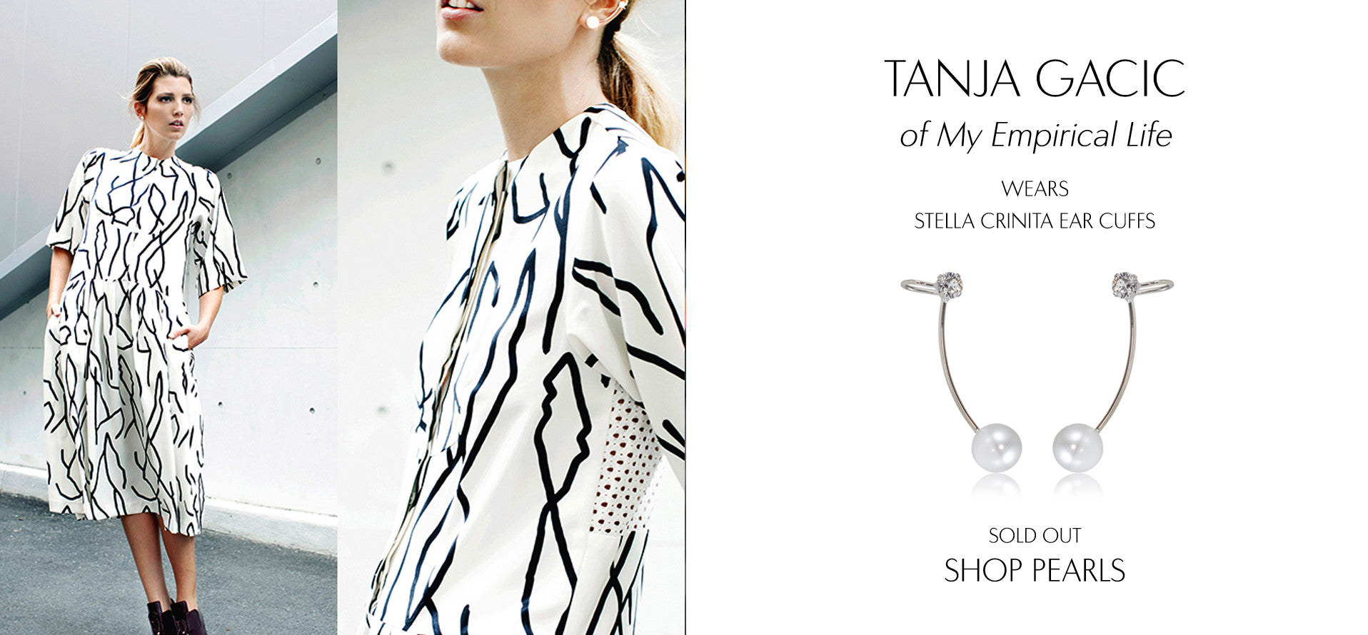 My EmpiricalLife - Fashion Blog by Tanja Gacic wears Sarina Suriano Stella Crinita pearl earcuffs